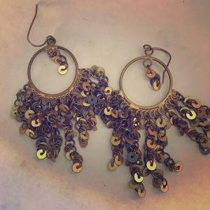 Goldtone metal sequin Earrings